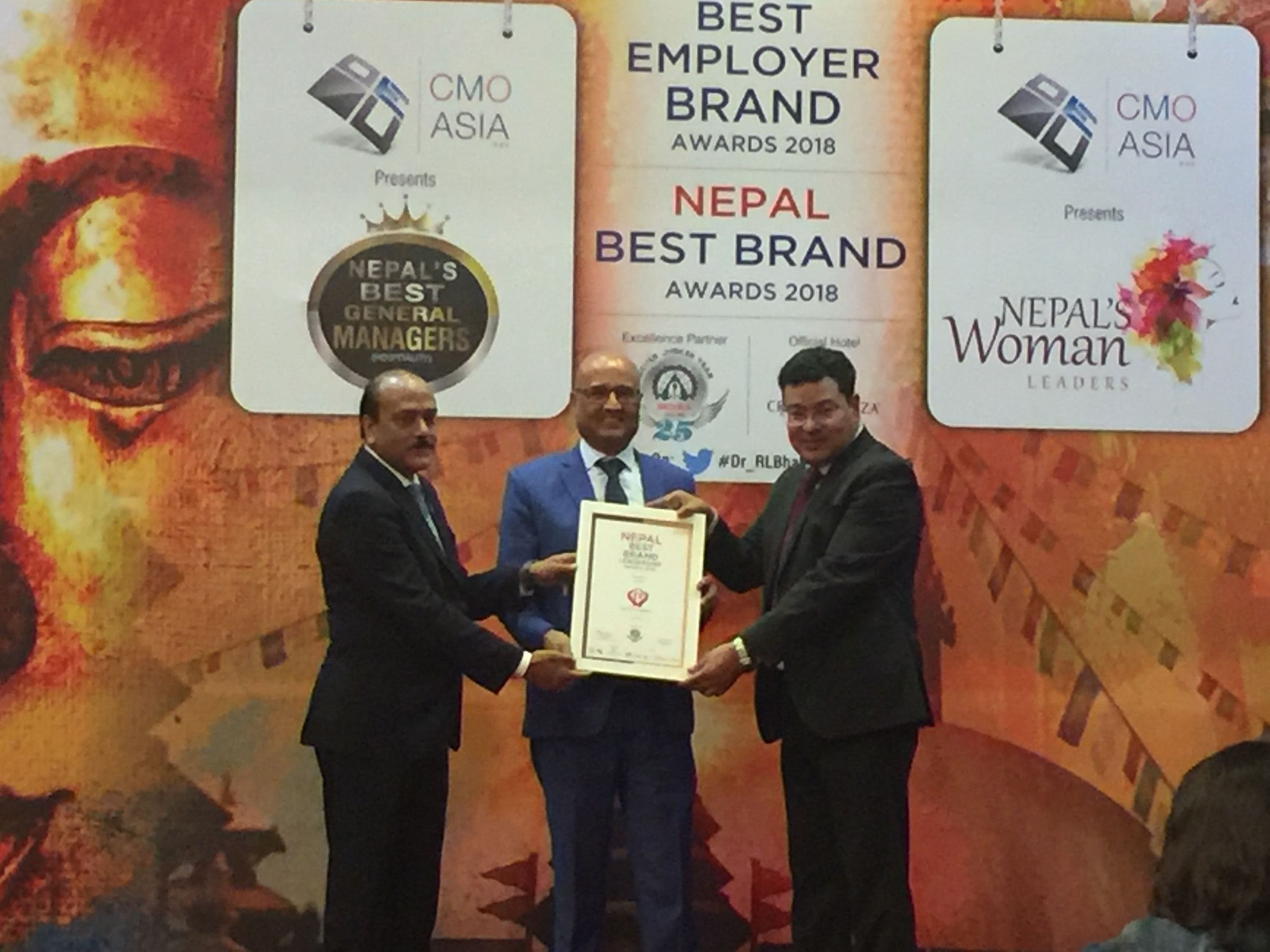 CRS receives a much deserved Best Brands in Nepal from CMO ASIA. Congratulations to everyone in CRS for their dedication to making CRS the best brand in Nepal.